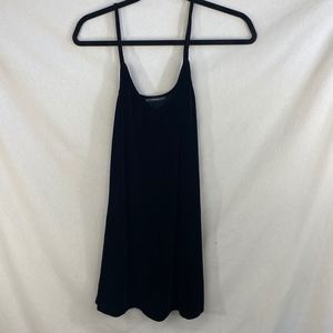 Brandy Melville Black Velvet Dress - OS